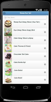 Resep Kue Tart apk screenshot