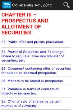 Companies Act, 2013 apk screenshot