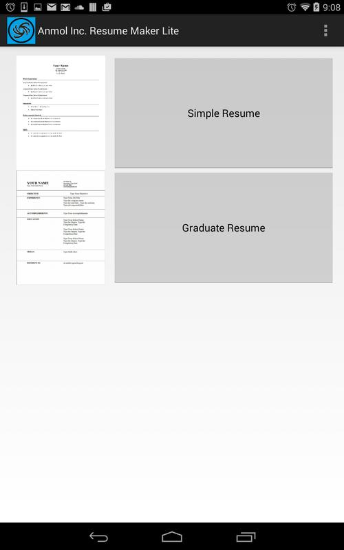 anmol inc resume maker lite apk free tools app