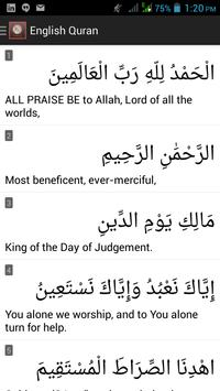 e-English Quran apk screenshot
