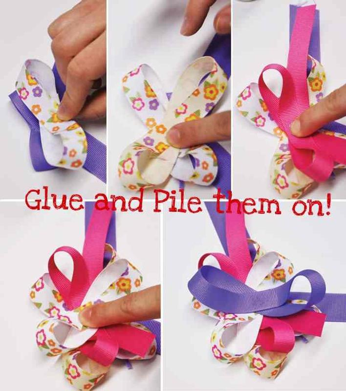 how to make small hair bows