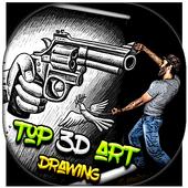 Amazing 3D Art Drawing icon