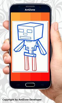 How To Draw Minecraft 2017 apk screenshot