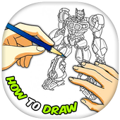 How To Draw Robot icon