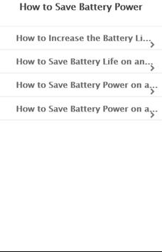 How to Save Battery Power poster