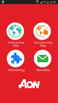 Aon Risk Map - Free poster