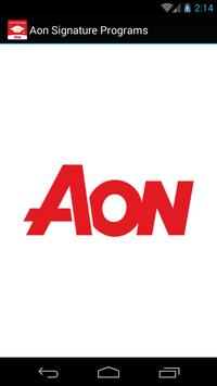 Aon Signature Programs poster