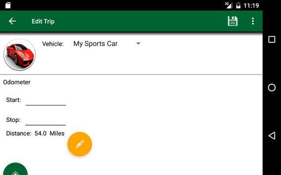 Track My Mileage apk screenshot