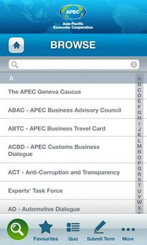 APEC Glossary poster