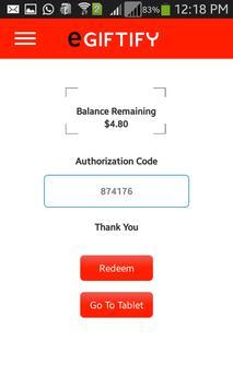 eGiftify Merchants apk screenshot