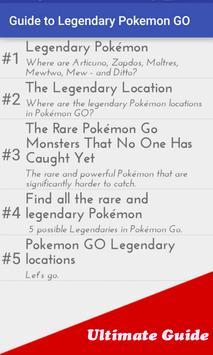 Guide to Legendary Pokemon GO poster