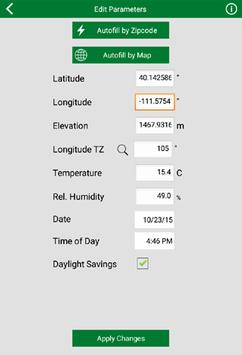 Clear Sky Calculator apk screenshot
