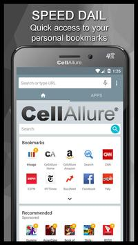 Cellallure Browser apk screenshot