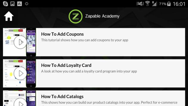 Zapable Academy apk screenshot