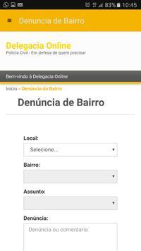 Delegacia Online PCERJ apk screenshot