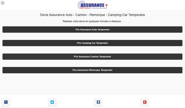 Assurance Auto Temporaire apk screenshot