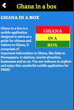Ghana in a box poster