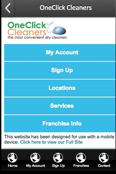 OneClick Cleaners poster