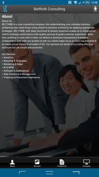 BELTHINK BUSINESS CONSULTING poster