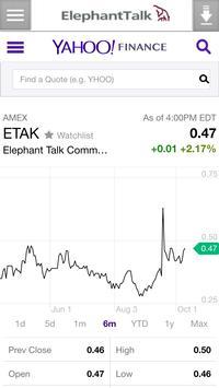 ElephantTalk (ETAK) poster