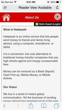 Hadassah Money Transfer apk screenshot