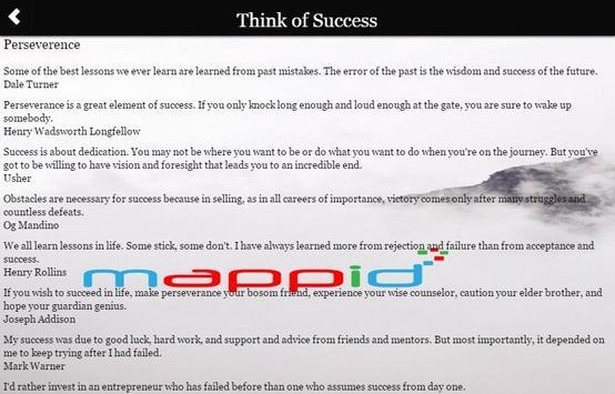 Think of Success apk screenshot