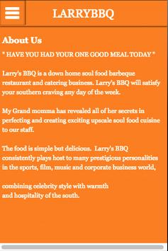 Larry BBQ poster