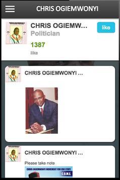CHRIS OGIEMWONYI apk screenshot