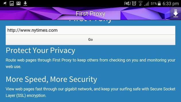 First Proxy apk screenshot