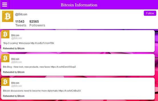 Bitcoin Information and News apk screenshot