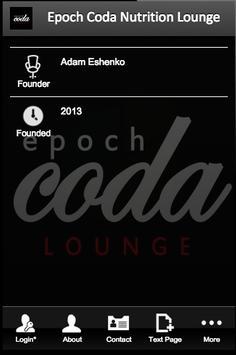 Epoch Coda Nutrition Lounge poster