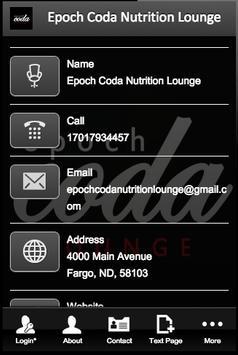 Epoch Coda Nutrition Lounge apk screenshot