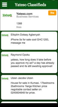 Yateso Classifieds apk screenshot