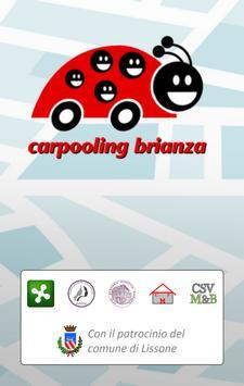 Carpooling Brianza poster
