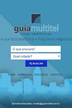 Guia Multitel Lista Telefônica poster