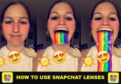 Guide Lenses for snapchat apk screenshot