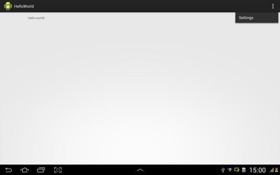 HelloWorld141 apk screenshot