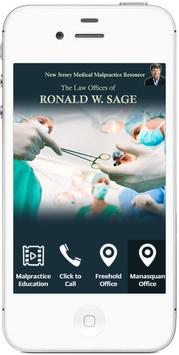 Ron Sage Medical Malpractice poster