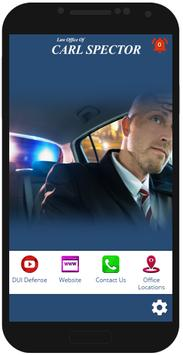 NJ DUI Lawyer Carl Spector poster