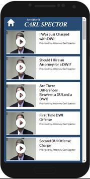 NJ DUI Lawyer Carl Spector apk screenshot
