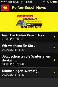 Reifen Busch apk screenshot