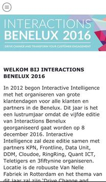 Interactions Benelux 2016 apk screenshot