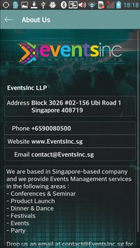 EventsInc LLP apk screenshot