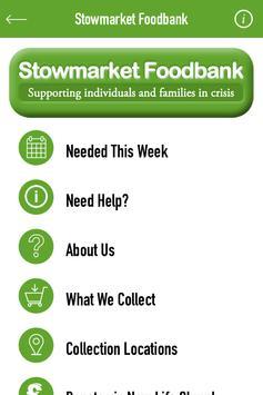 Stowmarket Foodbank poster