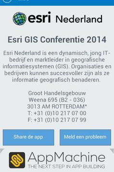 Esri GIS Conferentie 2015 apk screenshot