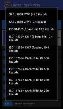Elm327 Scan PIDs apk screenshot