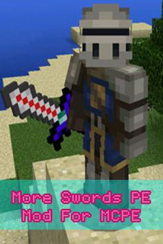 More Swords PE Mod For MCPE poster