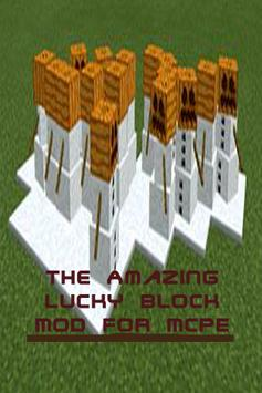 Amazing Lucky Block Mod MCPE poster