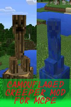 Camouflaged Creeper Mod MCPE poster
