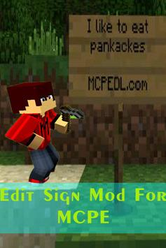 Edit Sign Mod For MCPE poster